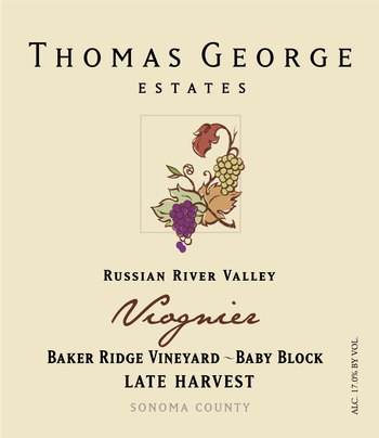 NV Late Harvest Viognier Baker Ridge Estate Single Vineyard Baby Block Image