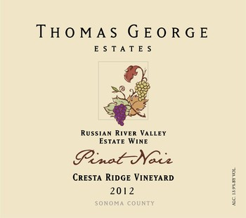 2012 Pinot Noir Cresta Ridge Estate Single Vineyard