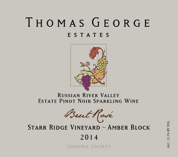 2014 Brut Rosé Starr Ridge Estate Single Vineyard Amber Block