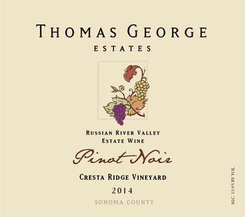 2014 Pinot Noir Cresta Ridge Estate Single Vineyard