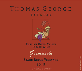 2015 Grenache Starr Ridge Estate Single Vineyard