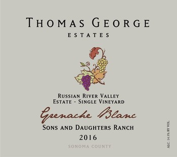 2016 Grenache Blanc Sons & Daughters Ranch Estate Single Vineyard