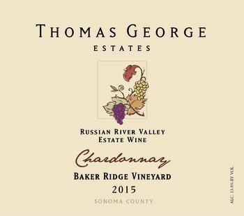 2015 Chardonnay Baker Ridge Estate Single Vineyard
