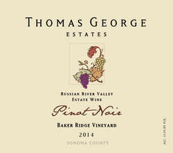 2014 Pinot Noir Baker Ridge Estate Single Vineyard Image