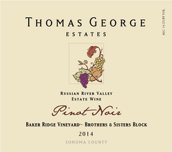 2014 Pinot Noir Baker Ridge Estate Single Vineyard Brothers & Sisters Block Image