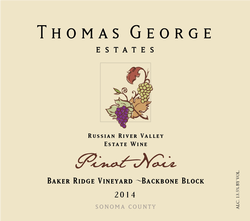 2014 Pinot Noir Baker Ridge Estate Single Vineyard Backbone Block Image