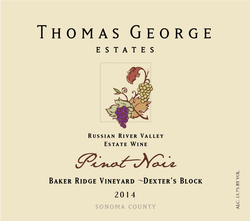 2014 Pinot Noir Baker Ridge Estate Single Vineyard Dexter's Block Image