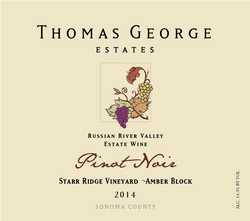 2014 Pinot Noir Starr Ridge Estate Single Vineyard Amber Block Image