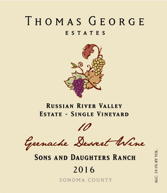 "2016 Fortified Grenache Noir ""10"" Sons & Daughters Ranch Estate Single Vineyard"