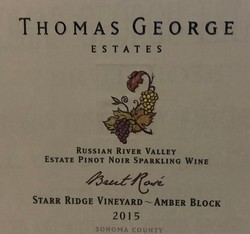 2015 Brut Rosé Starr Ridge Estate Single Vineyard Amber Block