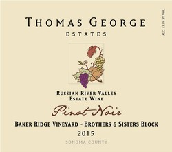 2015 Pinot Noir Baker Ridge Estate Single Vineyard Brothers & Sisters Block