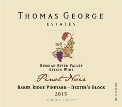2015 Pinot Noir Baker Ridge Estate Single Vineyard Dexter's Block
