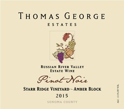 2015 Pinot Noir Starr Ridge Estate Single Vineyard Amber Block